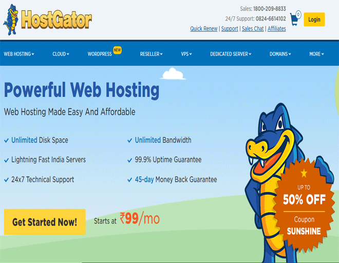 Web Hosting offers: Shared, Reseller, Cloud, VPS Hosting & Dedicated Server