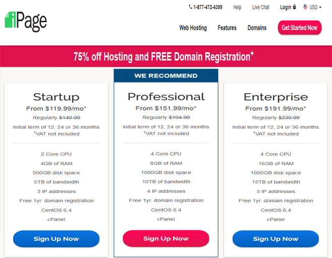 iPage coupons, discount on Dedicated servers hosting