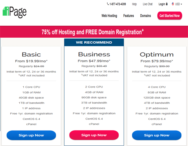 iPage coupons, discount on VPS hosting