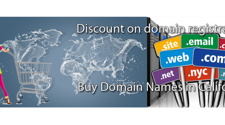 Discount on buy COM domains in California