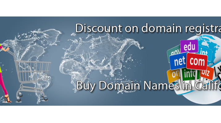 Discount on domain registration in California
