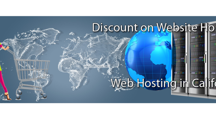 Discount on web hosting in California